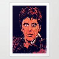 Tony Montana Art Print