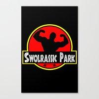 Swolrassic Park Canvas Print