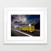 Volkswagen The Demon Bus… Framed Art Print