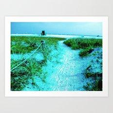 Siesta Keys in Colored Edges Art Print