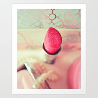 Lipstick Love Art Print