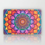 Lotus Rainbow Mandala Laptop & iPad Skin