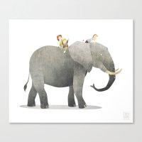 Wild Adventure - Elephan… Canvas Print