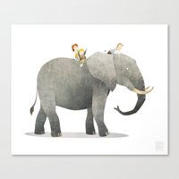 Wild Adventure - Elephan… Canvas Print