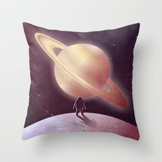 A View From Enceladus Throw Pillow
