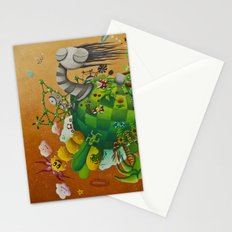 playing planet Stationery Cards