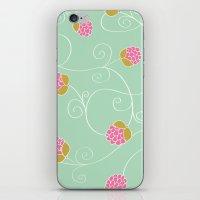 Raspberry Patch Aqua iPhone & iPod Skin