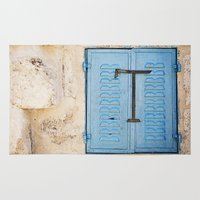 Vibrant Blue Window In S… Rug