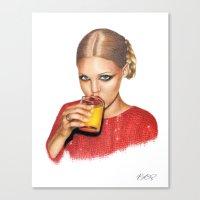 Lindsay At 9 AM Canvas Print