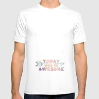 Today will be Awesome Mens Fitted Tee White SMALL