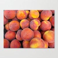 Just a few peaches Canvas Print