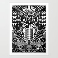 Insane Black & White Art Print