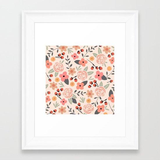 FLOWER FEST Framed Art Print