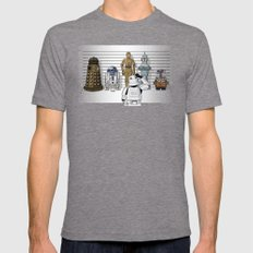 Star Wars Droid Lineup Mens Fitted Tee Tri-Grey SMALL