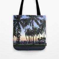 Sunset on Waikiki Tote Bag