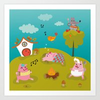 Three little PIG Art Print