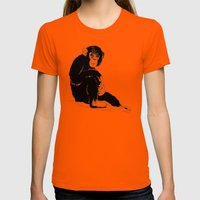 Monkey Womens Fitted Tee Orange SMALL
