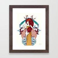 Lady of Fall Framed Art Print