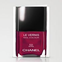 Chanel Nail Polish April Stationery Cards