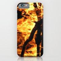 Camp fire at night iPhone 6 Slim Case