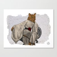 La Grande Dame, Couture Kitty Canvas Print