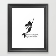 The Little Mermaid Cosmi… Framed Art Print