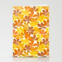 Chestnut tree autumn leaves Stationery Cards