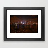 NYC At Night Framed Art Print