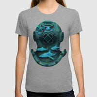 Deep Diving Womens Fitted Tee Tri-Grey SMALL