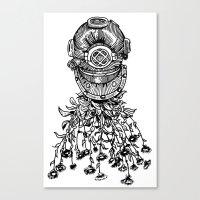Daisy Diver Canvas Print