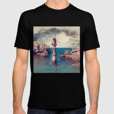 Where the silence has lease Black Mens Fitted Tee SMALL