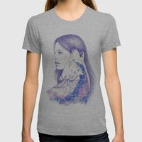 Cosmic Love Womens Fitted Tee Athletic Grey SMALL