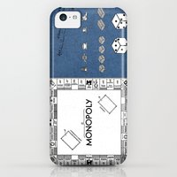 iPhone 5c Cases featuring Monopoly Patent Art Board Game Apparatus blue by jbjart