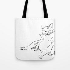 Fat Cat illustration Tote Bag