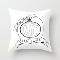 God Save The Ong Throw Pillow