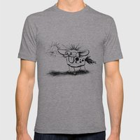 Hyena and the Spider whisker whisk  Mens Fitted Tee Athletic Grey SMALL