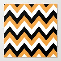 COWBOY CHEVRON Canvas Print