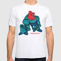 robot1 Mens Fitted Tee Ash Grey SMALL