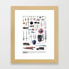 Famous Weapons Framed Art Print