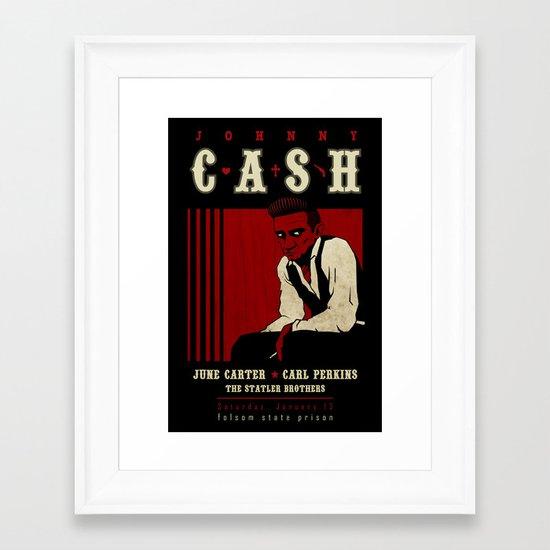Cash Live at Folsom Prison Framed Art Print