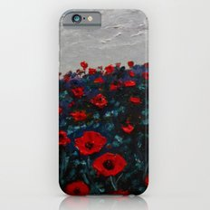 Field of Red Poppy Flowers iPhone 6 Slim Case