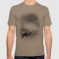 The Whale Mens Fitted Tee Tri-Coffee SMALL