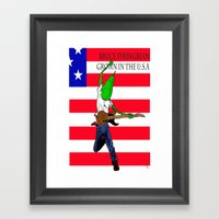 Bruce Stringbean Framed Art Print