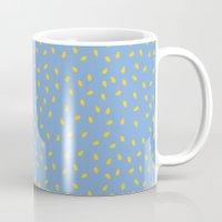 Yellow Pit on Blue /// www.pencilmeinstationery.com Mug