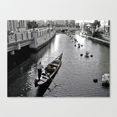 Condola at Waterfire in Providence, Rhode Island Canvas Print