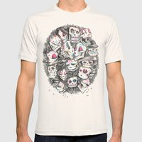 LOS CALACAS Mens Fitted Tee Natural SMALL
