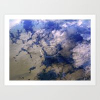 Puddles Can Reflect Too Art Print