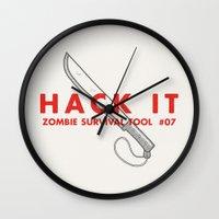Hack It - Zombie Surviva… Wall Clock