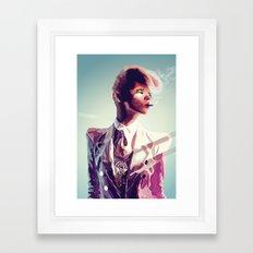 suit cigg Framed Art Print
