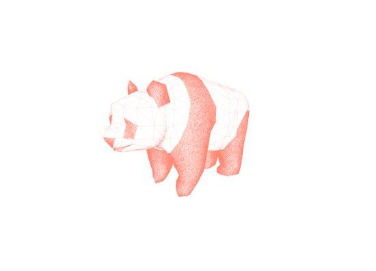 Geo Panda Art Print
